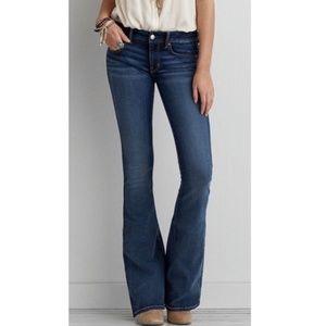 American Eagle boho Artist Flare Jeans Womens 4